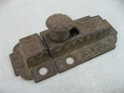 Eastlake Cupboard Lock Cabinet Door Latch Antique Ornate Victorian