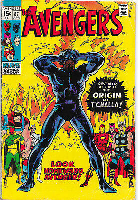 Avengers #87 Bronze Age Marvel Comics Black Panther Origin F