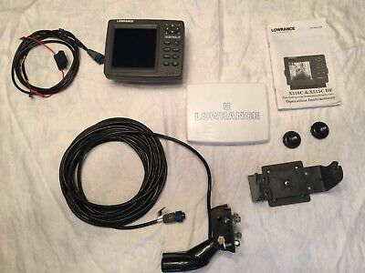 Lowrance x510c Color Sonar, Dual Transducer, Cable, Cover and Swivel Mount Combo