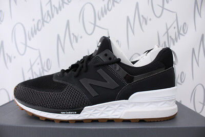 NEW BALANCE 574 Sz 9 Black Magnet Grey White Gum Brown Fresh