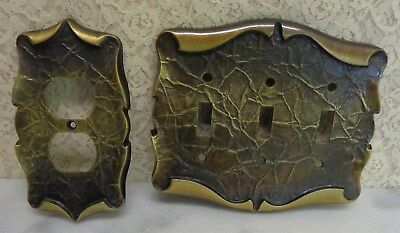 Vintage Amerock Carriage House 1 Outlet 1 Triple Light Switch Cover Plate