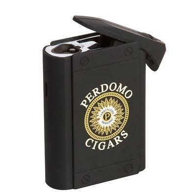PERDOMO Colibri Uber Triple Torch Flame Table-Top Cigar Lighter - Black