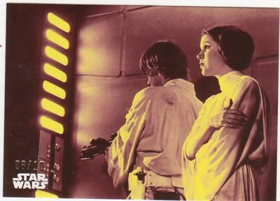 """STAR WARS A NEW HOPE BLACK & WHITE BASE CARD /10  """"Locking"""" the Door"""