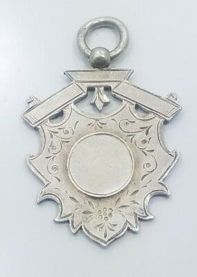 Antique Vintage Victorian Sterling Silver 925 English Crest Fob Charm Pendant