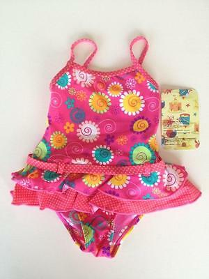 Girls  Swimmers Pink Swimsuit Kids Bathers 1 Piece Sizes 1-2 Australian Seller