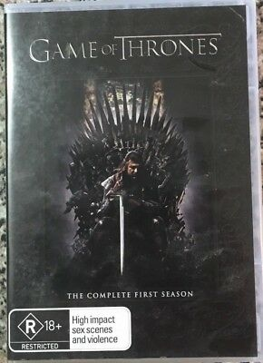 GAME OF THRONES The Complete First Season 5 disc set DVD