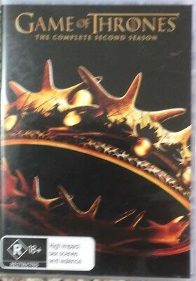 GAME OF THRONES The Complete Second Season 5 disc set DVD