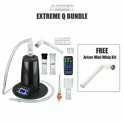 NEW 2018 Arizer Extreme Q 4.0 Aromatherapy + Arizer Mini Whip Kit Bundle