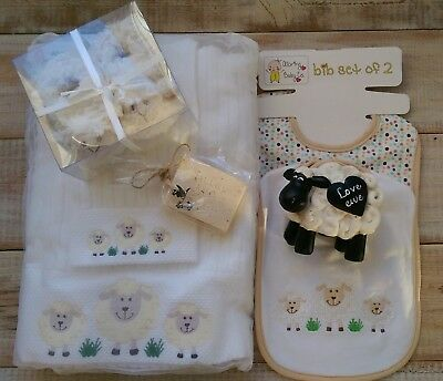 Baby Gift Box with Towel and Money Box - Sheep