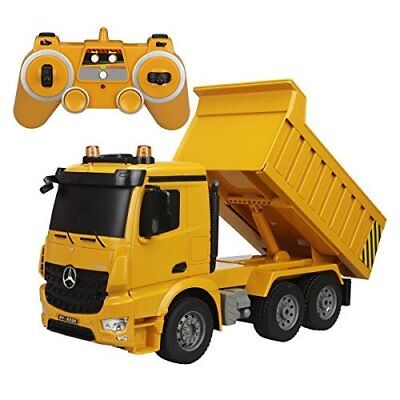RC Dump Truck 6 Channel Full Function Heavy Construction Engineering Vehicle NEW