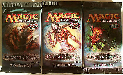 Magic The Gathering MTG PLANAR CHAOS Booster Packs x3 (diff art) - New & Sealed