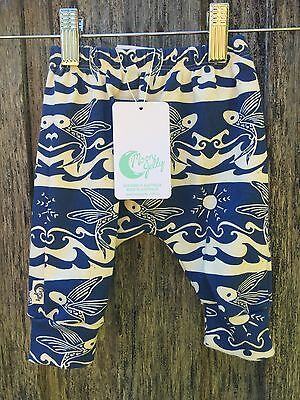 Moon Jelly Crop Baby Pant Flying Fish. Size 0