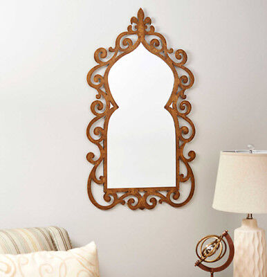 Large Decorative Scroll Wall Mirror Hanging Interior Home Accent Decoration Gold