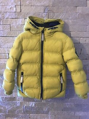 Ted Baker Boys Padded Puffer Coat Lime/Yellow *Beautiful Condition* 3-4yrs