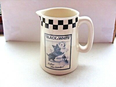black and white scotch whisky water jug follow the leader in VGC