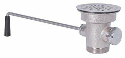 BK Resources Lever Operated Twist Drain with 3.5 inch Opening and Stainless S...