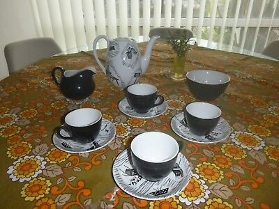 Lovely 1950's Retro Ridgway Homemaker Coffee Set