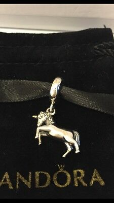 Authentic Pandora Unicorn Charm Pendant Silver/gold With Ale And S925 In Pouch