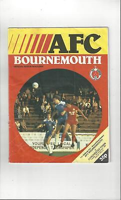Bournemouth v Dorchester Town FA Cup Football Programme 1981/82