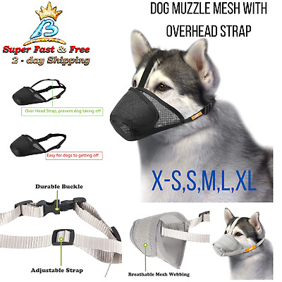 Dog Muzzle Adjustable Anti Bark Bite Lick Mask Mouth Guard Groom Pet Supplies