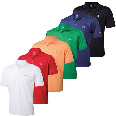 Wilson Staff Mens WS Authentic Performance Tech Golf Polo Shirt 38% OFF RRP
