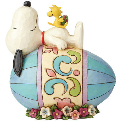 NEW PEANUTS Jim Shore Good Eggs Snoopy Handpainted Stone Resin Easter Figure