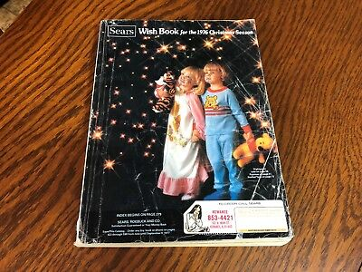 1976 Sears Wish Book Christmas Season Magazine Catalog Nice Vintage