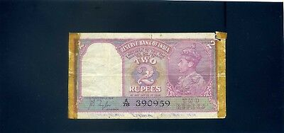 India 2 Rupees  Banknote - 1937