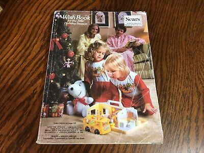 1980 Sears Wish Book Christmas Season Magazine Catalog Nice Vintage