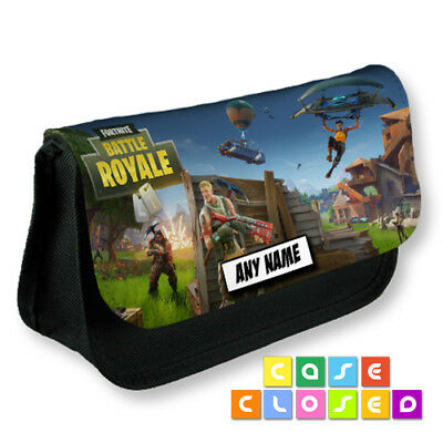 FORTNITE BATTLE ROYALE Gaming Poster PERSONALISED Pencil Case School Make Up Bag