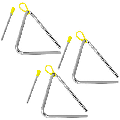 Tiger 15cm Pack of 3 Triangle Instrument with Beater