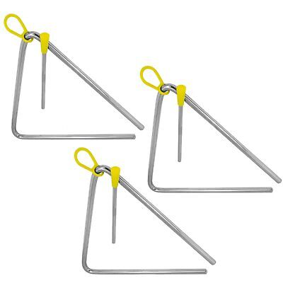 """Tiger 8"""" Pack of 3 Triangle Instrument with Beater"""