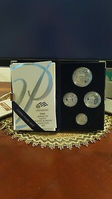 2006-W Platinum Eagle Proof Set 4 Coins With Box & Papers 1.85 Oz's Gorgeous!
