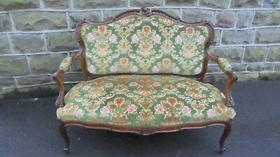 Quality Antique Walnut Framed Sofa Settee Couch