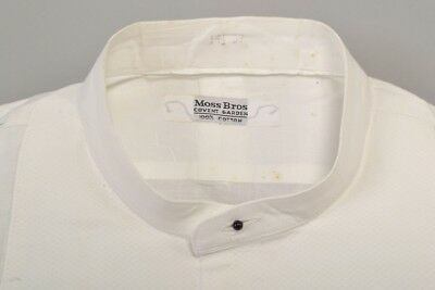 """S14.5 Neckband for 15"""" Collar 1960s' Stiff Fronted Evening Dress Shirt. Ref DXF"""