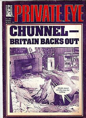 Private Eye Mag # 342 24 January 1975 Channel Tunnel Eurotunnel Chunnel cover