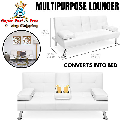 FUTON SOFA BED Sleeper Recliner Sofa Couch Fold Up Modern ...
