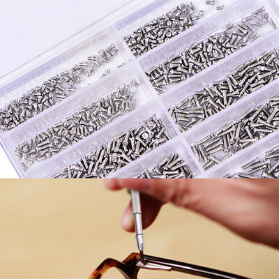 1000pcs/set Assorted Screws For Watch Eye Glasses Watchmaker Repair Part Tool ME