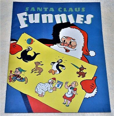 Rare Santa Claus Funnies,1940 Whitman Publishing Giveaway-(NOT- W.T.Grant)
