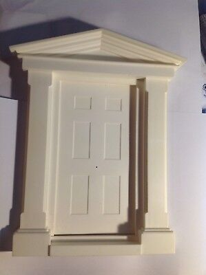 White Plastic Large Georgian Door 12th Scale BNWT Dolls House Fairy Doors