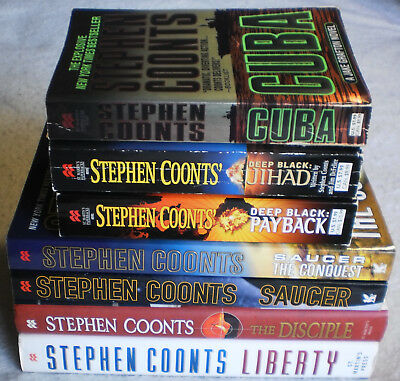 Stephen Coonts Lot Of 7 Cuba Saucer Liberty The Disciple Deep Black More