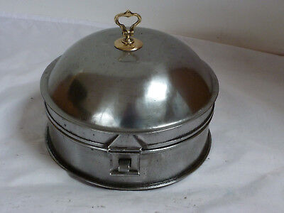 Early 19th Century Regency polished tin spice box Antique
