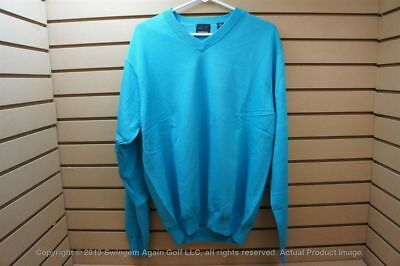 NWTags Mens Greg Norman Golf Pullover Sweater Size Large Teal 16D