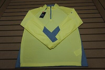 NEW Under Armour Golf  Pullover Mens Size Large  Yellow 85b