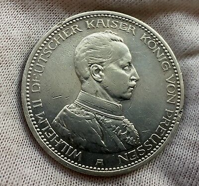 Germany Prussia Silver 5 Mark 1913 A