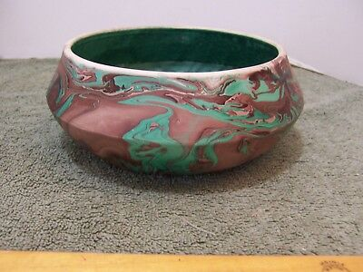 Vintage Cripple Creek Colorado Pottery Bowl Swirl Clay