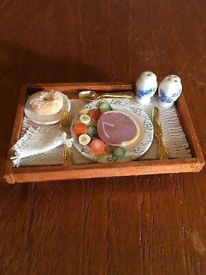 12th Dinner or Supper on a tray Reutter cutlery and condiment set OOAK