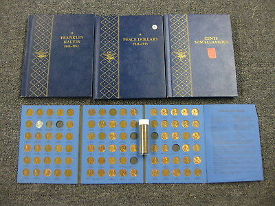 HUGE COIN LOT ! COLLECTION BOOKS - over 100 PENNIES whitman S LINCOLN CENT roll
