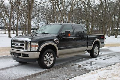 2008 Ford F-250 Crew Cab 4WD King Ranch Diesel Perfect Carfax Great Service History Excellent Condition MSRP New $53235
