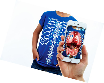 Curiscope Virtuali Educational Augmented Reality T-Shirt, Blue, Medium (7-8 Year